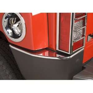Hummer H3 Triple Chrome Plated Rear Bumper Corner Covers (Fits 2006