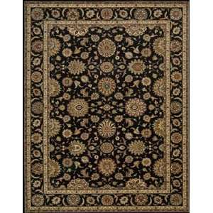 Living Treasures Collection Traditional Black Wool Rug 5.60 x 8.30
