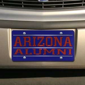 Wildcats Royal Blue Mirrored Alumni License Plate