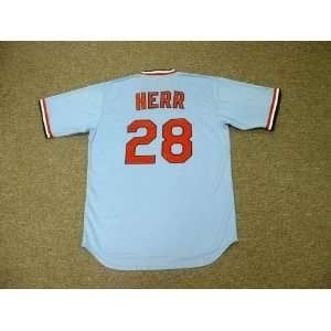 Cardinals 1982 Majestic Cooperstown Throwback Away Baseball Jersey