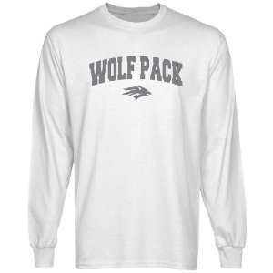 Wolf Pack White Logo Arch Long Sleeve T shirt
