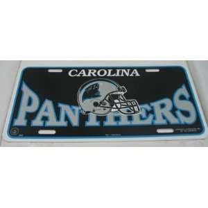 NFL Carolina Panthers Plastic License Tag