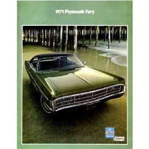 1971 PLYMOUTH FURY Sales Brochure Literature Book