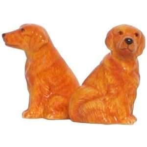 Ceramic Pottery Golden Retriever Dog Salt and Pepper