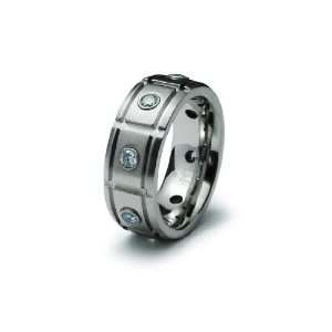 Men Stainless Steel CZ Ring (Size 12) Available Size 9