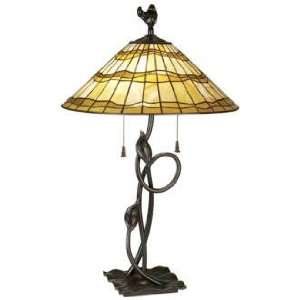 Louis™ Tiffany Organic Iron Art Glass Table Lamp