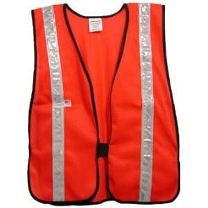 Iron Horse Soft Mesh Red Vests   Silver Stripes