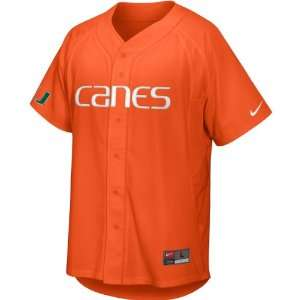 Nike Miami Hurricanes Youth Baseball Jersey