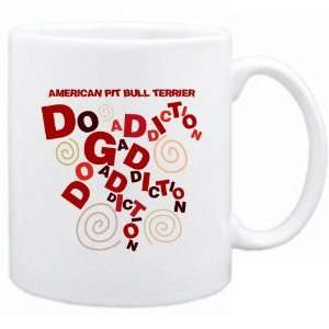 New  American Pit Bull Terrier Dog Addiction  Mug Dog
