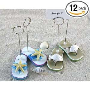One Dozen Pairs of Beach Flip Flop Place Card Holders for Wedding Gift