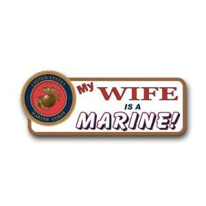 US Marine Pride My Wife is a Marine Bumper Sticker Decal