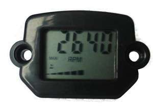 Resettable Tach Hour Meter 2 & 4 Stroke Engine ATV