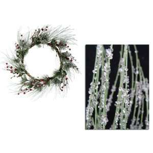 24 Iced Berry Pine Artificial Christmas Wreath