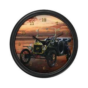 Model T Ford Racing Wall Clock by