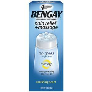 Bengay Pain Relief + Massage No Mess Applicator Gel, 3 oz