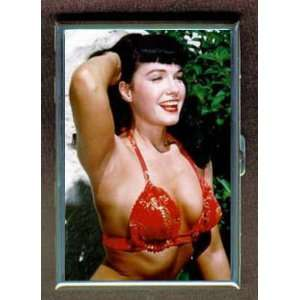 BETTIE PAGE RED BIKINI TOP ID CIGARETTE CASE WALLET