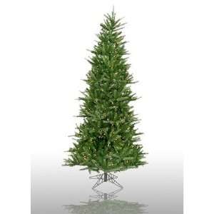 A88107   X 7.5 Prelit Slim Tiffany Spruce Artificial Christmas Tree