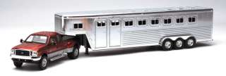 NEW RAY 1/32 Ford F350 Fifth Wheel with Horse Trailer