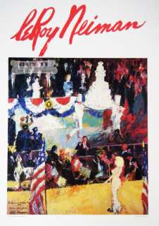 LeRoy Neiman SIGNED Happy Birthday Mr. President NEW