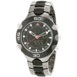 Polo Assn. Mens US8083 Gun Metal/Black Plastic Analog Digital