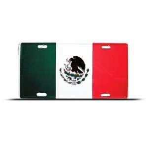 Mexico Mexican Flag Metal License Plate Wall Sign Tag