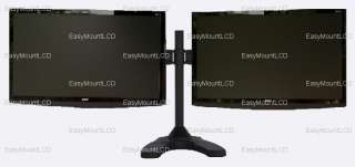 Dual/Two LCD Monitor Stand Free Standing   Up to 24